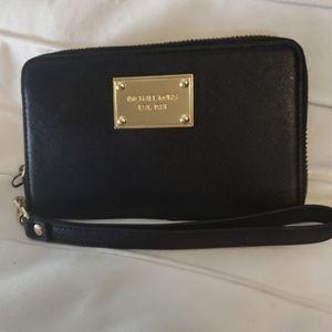 MICHAEL Michael Kors Saffiano Luggage Phone Wallet